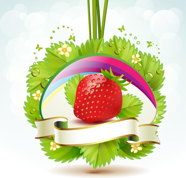 Strawberry Theme Background 4
