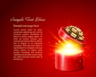 Caja de regalo brillante redondo