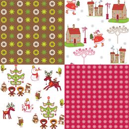Weihnachtsmuster mit Farben gesetzt