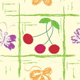 Fondo de fruta pintada a mano 3