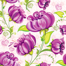 Oil pint purple flowers wallpaper