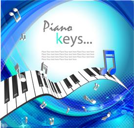 Hermoso fondo de piano