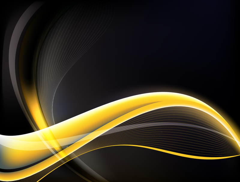 Abstract yellow wave backdrop - Vector download