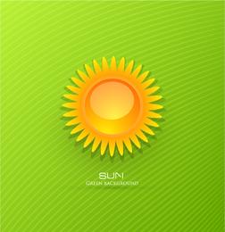 Dreidimensionaler Cartoon-Sonnenaufgang