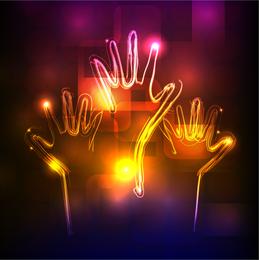 Fundo de néon brilhante 4