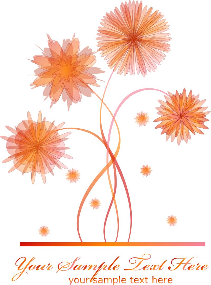 Ilustracion De Flor Aislada En Naranja Descargar Vector