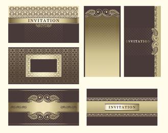 Conjunto de plantillas de invitación.