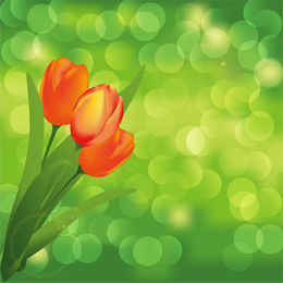 Blume mit grün