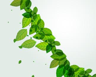 Green leaves string