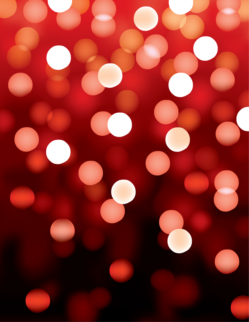Red Bokeh Background -...
