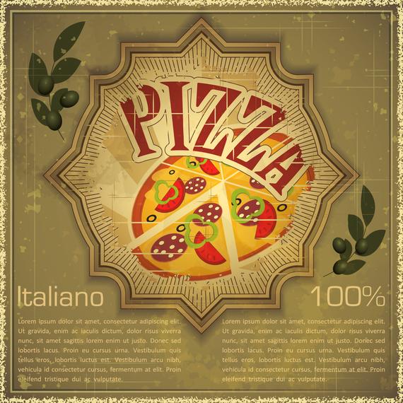 Retro Pizza Background