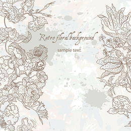 Delicate hand-drawn floral desing