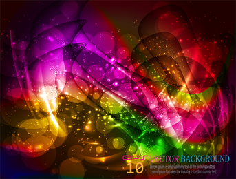Bright Colorful halo background