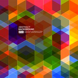 Polygonal superposed backdrop