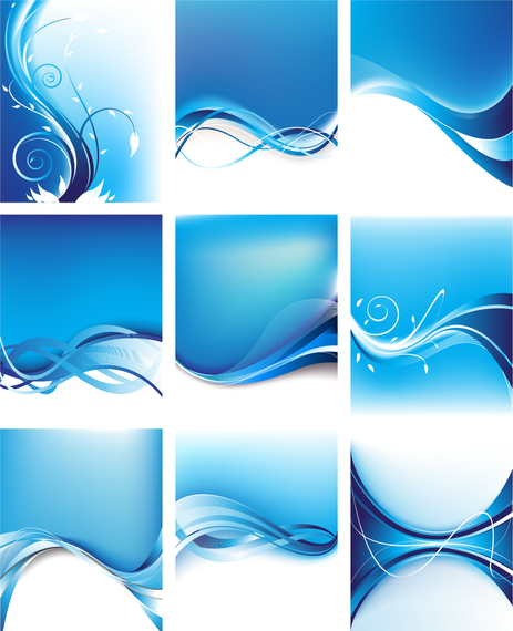 Download Vector Abstract Blue Waves Background Collection