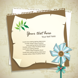 Note template with pinwheel