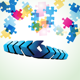 Colorful puzzle background design