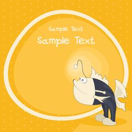 Pescado con piernas ilustración con texto