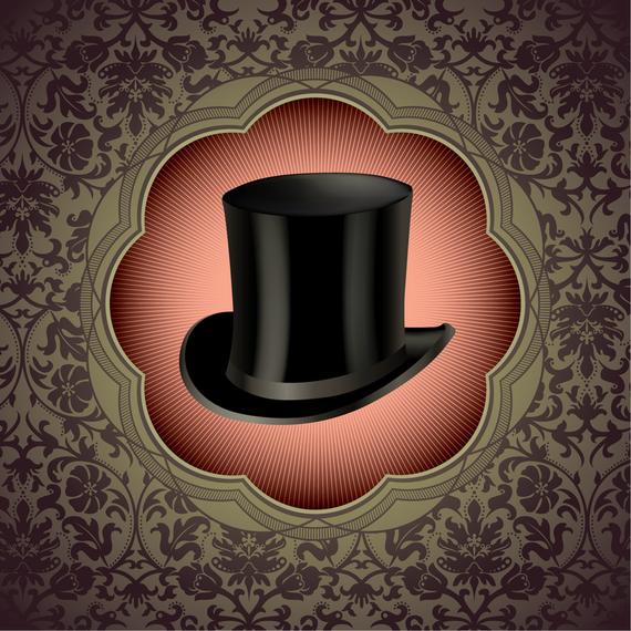 Sombrero de copa de caballero ornamental