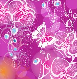 Papel pintado de mariposas silueta blanca