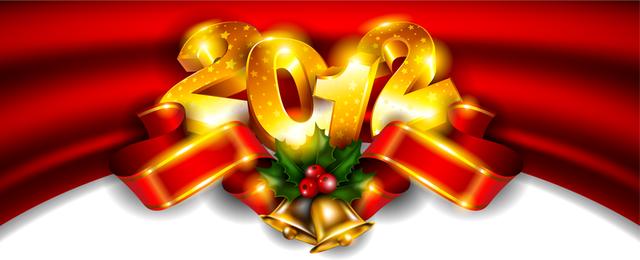 Banner 3D de 2012 com ornamentos