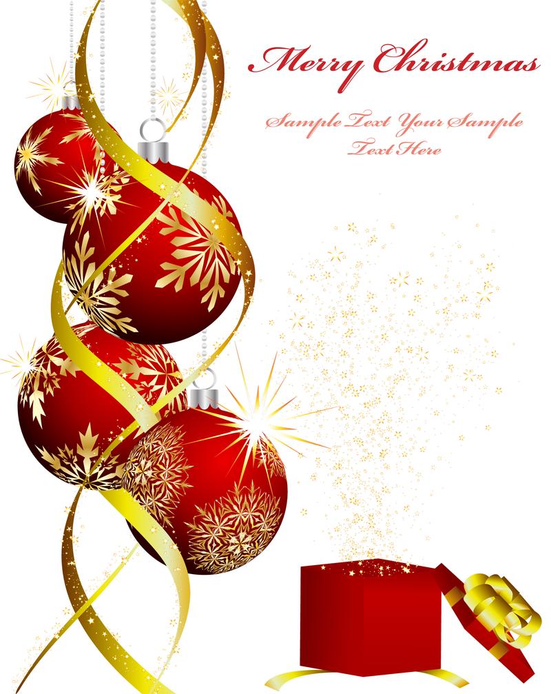 Christmas Ornaments Beautiful Vector Download