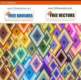 Colorful rhombus pattern design
