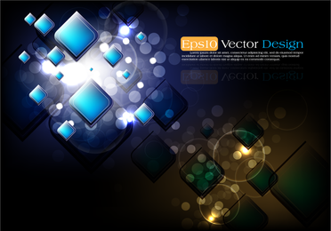 Abstract banner with 3D cubes