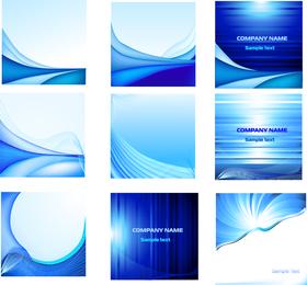 Elegant Blue Card