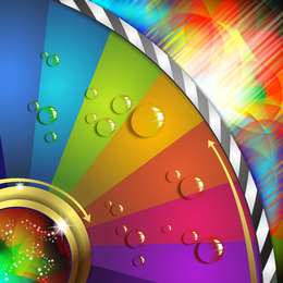 Abstract colorful background with elements