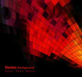 Curved mosaic red background