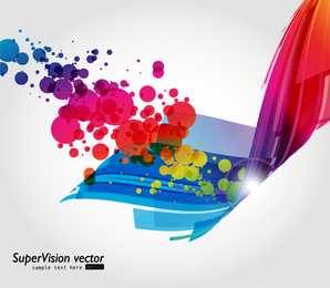 Colorful abstract 3D shapes design