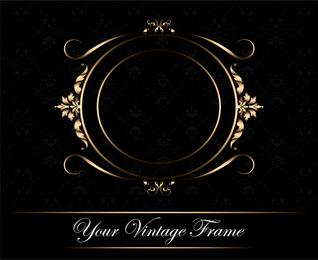 black and gold frame png. Vintage Gold Frame Backdrop Design Black And Png