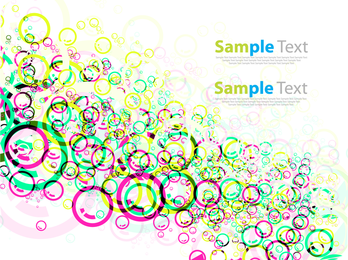 High contrast circles and bubbles background