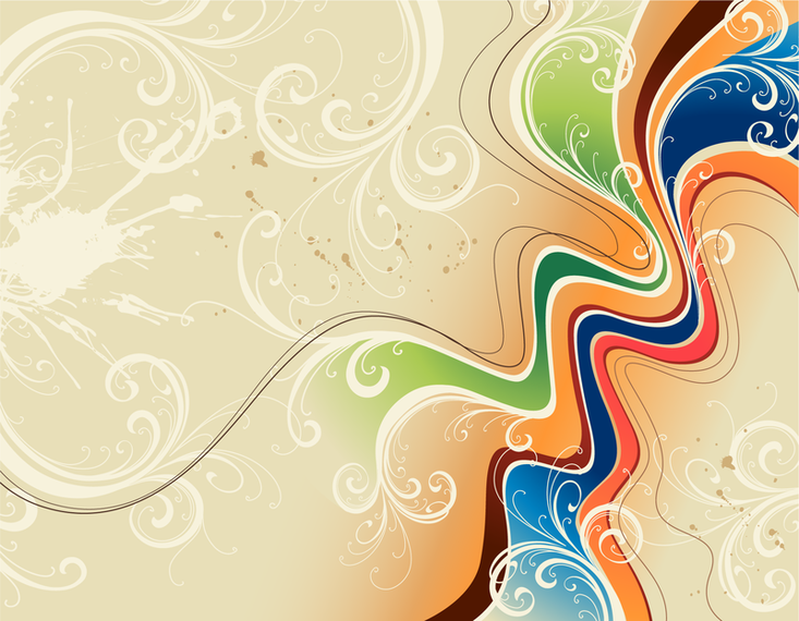 Swirl backdrop with colors