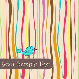 Spring bird illustration backdrop