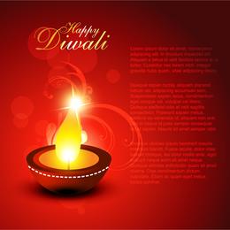 Feliz diseño de Diwali con vela.
