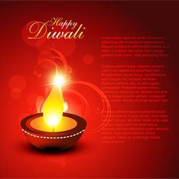 Happy Diwali design with candle