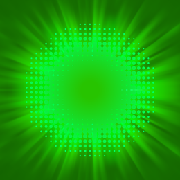 Green starburst design backdrop