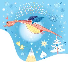 Desenhos animados do dinossauro Illustrator 4
