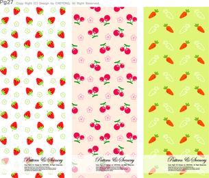 Illustrated fruit pattern set
