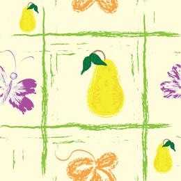 Fundo de frutas pintadas à mão 4