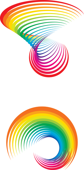 Isolated rainbow illustration clipart