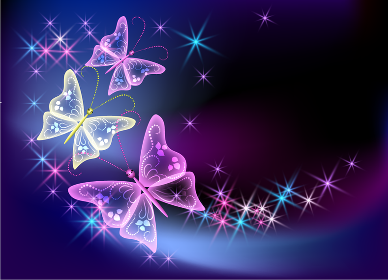 Colorful illustrated butterflies backdrop vector download for Immagini farfalle per desktop