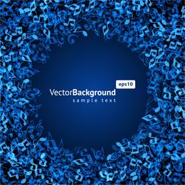 Music Keys Blue background