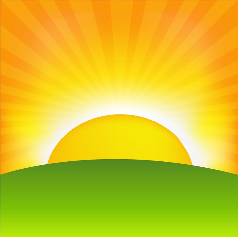 Line Drawing Sunrise : Sunrise cartoon background vector download