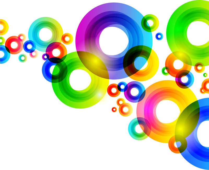 Colorful Abstract Circles Design Vector Download