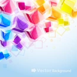 Colourful 3d Cubes