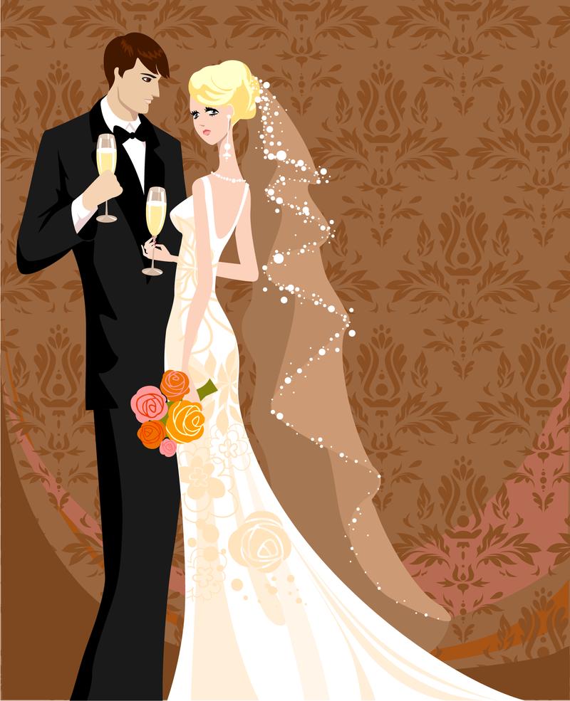 Wedding Card Background Vector Download