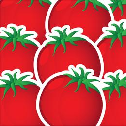Tomatoes illustration pattern design